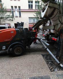 Pumpa betonu v Praze
